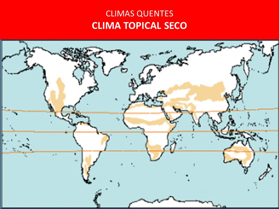 CLIMAS QUENTES CLIMA TOPICAL SECO