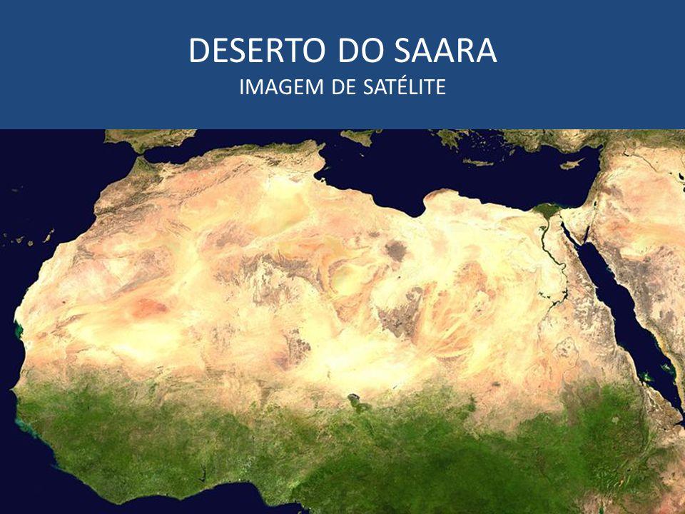 DESERTO DO SAARA IMAGEM DE SATÉLITE