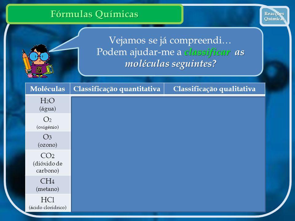 Classificação quantitativa Classificação qualitativa