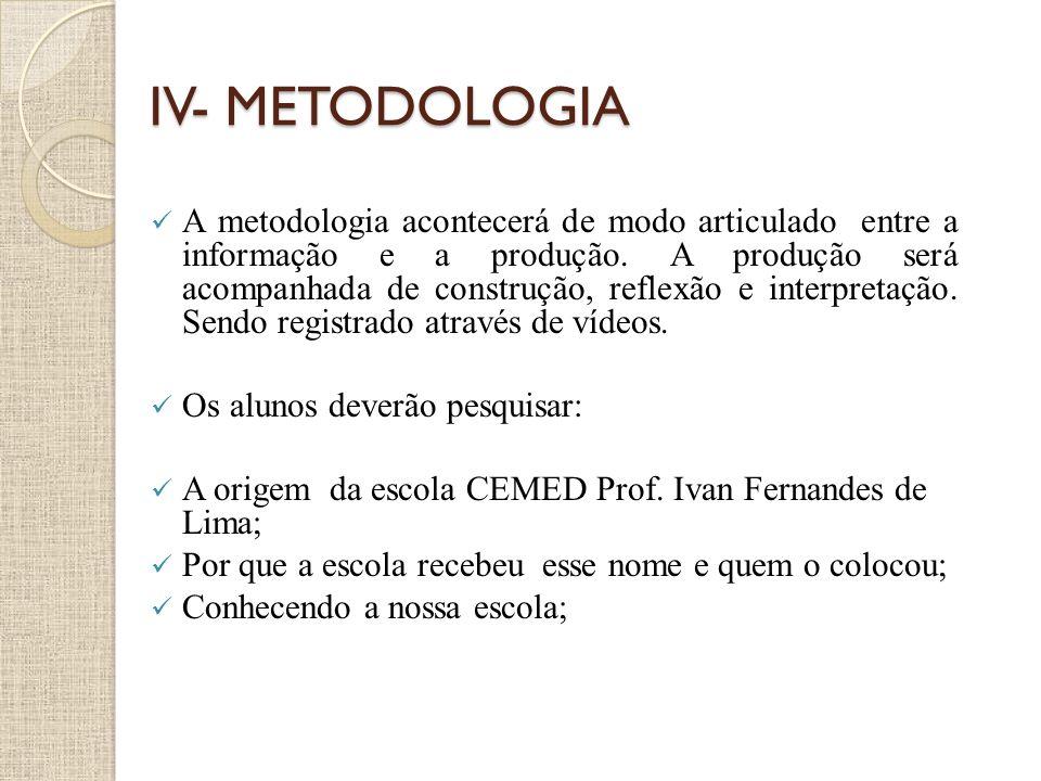 IV- METODOLOGIA