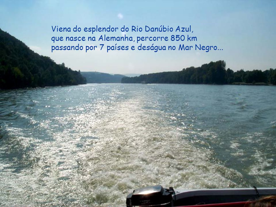Viena do esplendor do Rio Danúbio Azul,