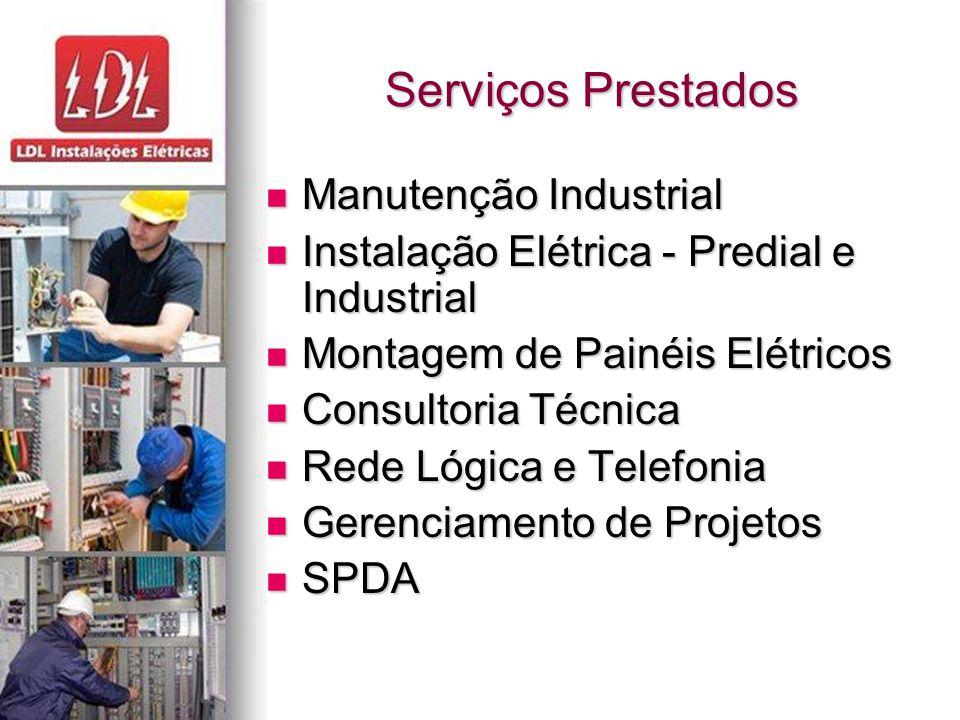 Serviços Prestados Manutenção Industrial