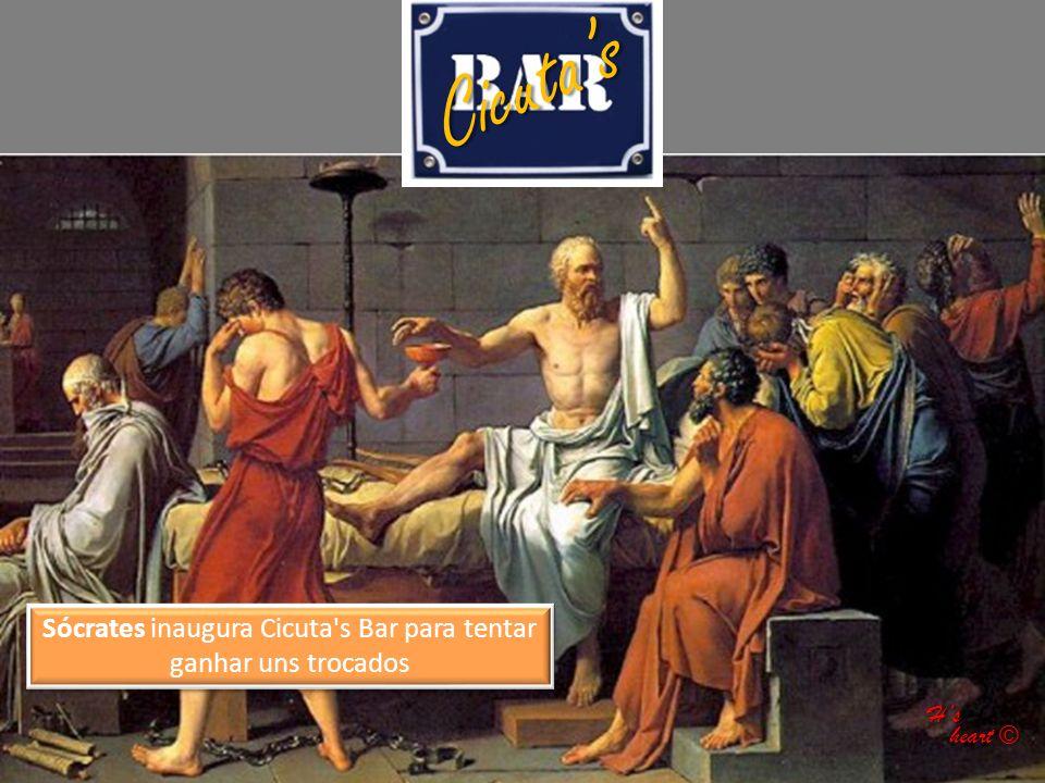 Sócrates inaugura Cicuta s Bar para tentar ganhar uns trocados