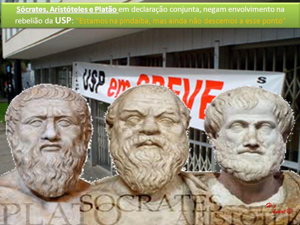 Sócrates, Aristóteles e Platão em declaração conjunta, negam envolvimento na rebelião da USP: Estamos na pindaíba, mas ainda não descemos a esse ponto