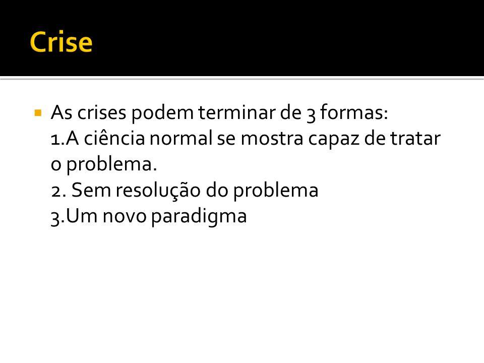 Crise As crises podem terminar de 3 formas: