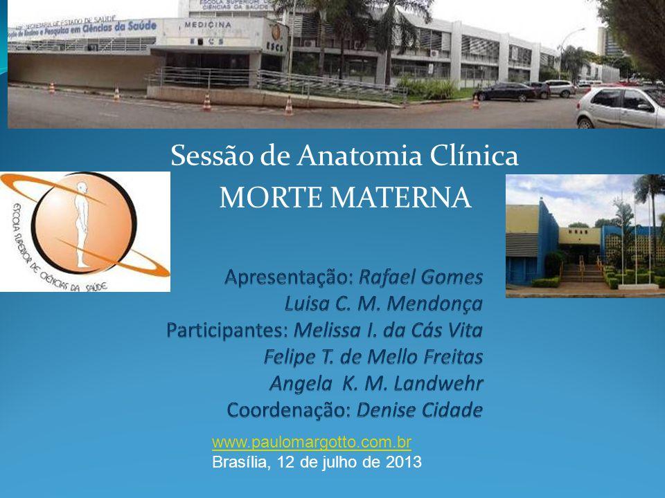 Sessão de Anatomia Clínica MORTE MATERNA