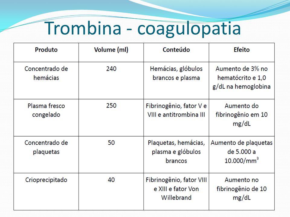 Trombina - coagulopatia