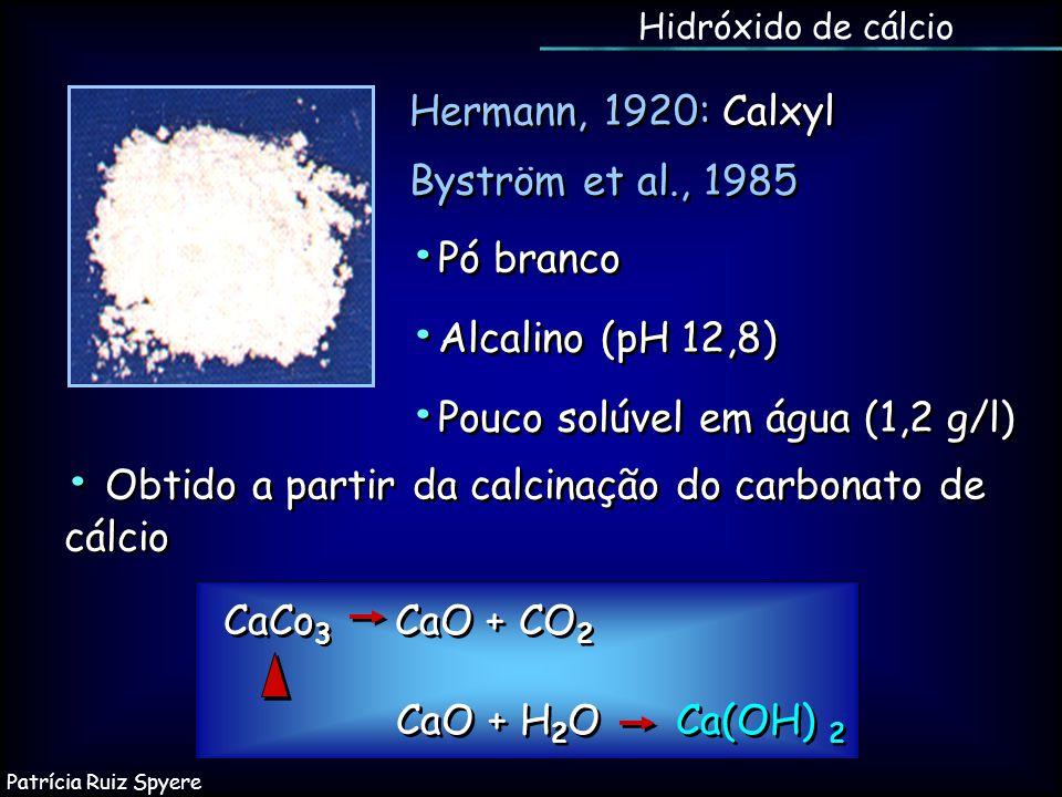 • Obtido a partir da calcinação do carbonato de cálcio •Pó branco