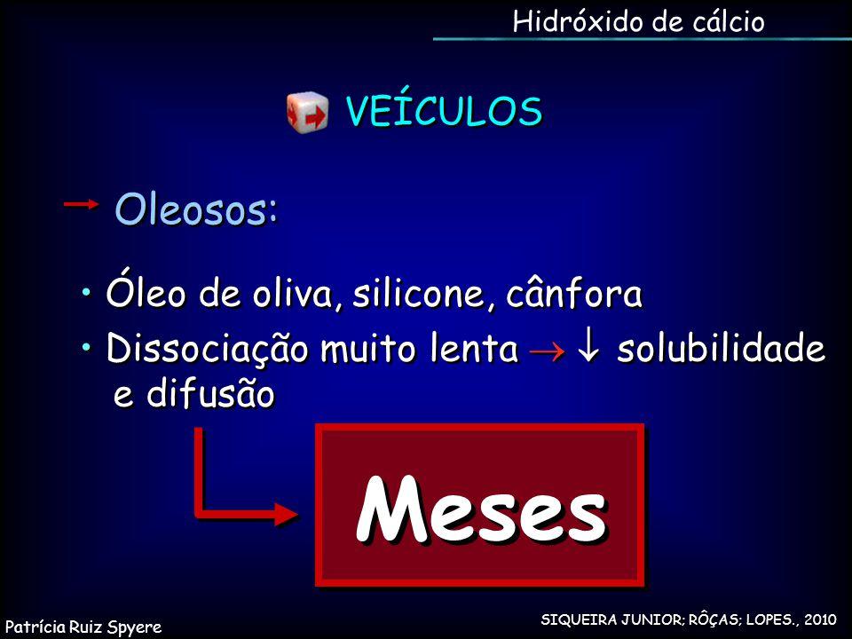 Meses Oleosos: VEÍCULOS • Óleo de oliva, silicone, cânfora