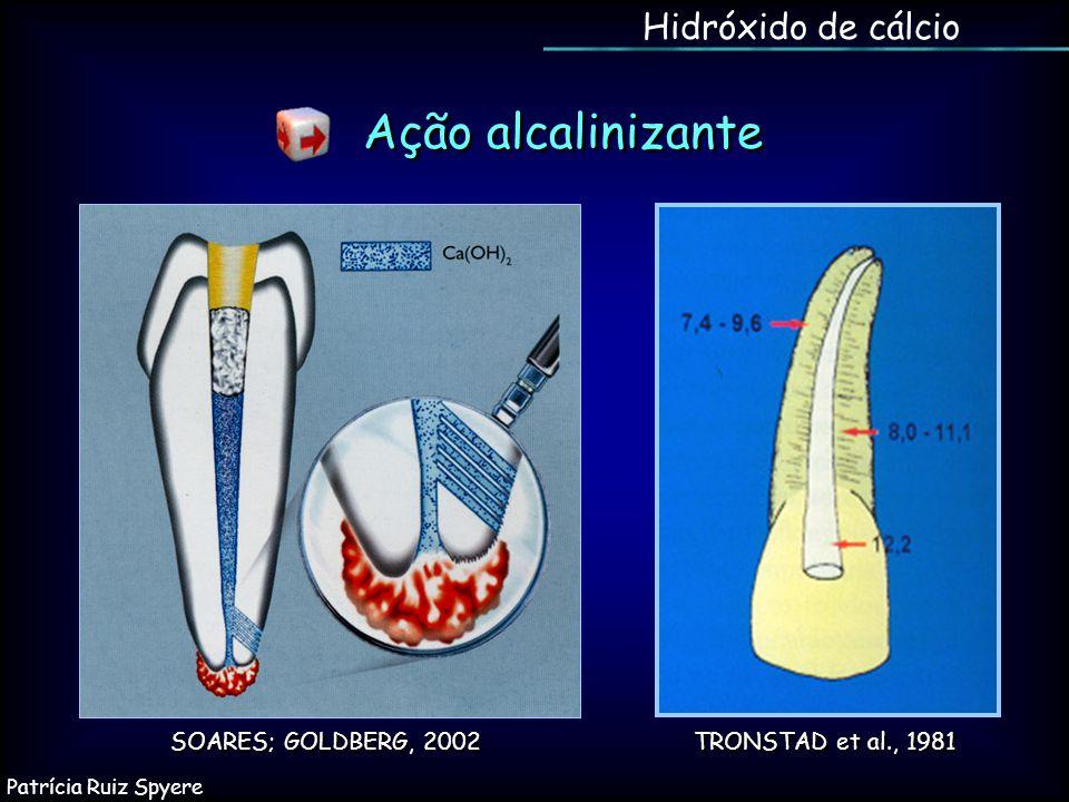 Ação alcalinizante Hidróxido de cálcio SOARES; GOLDBERG, 2002