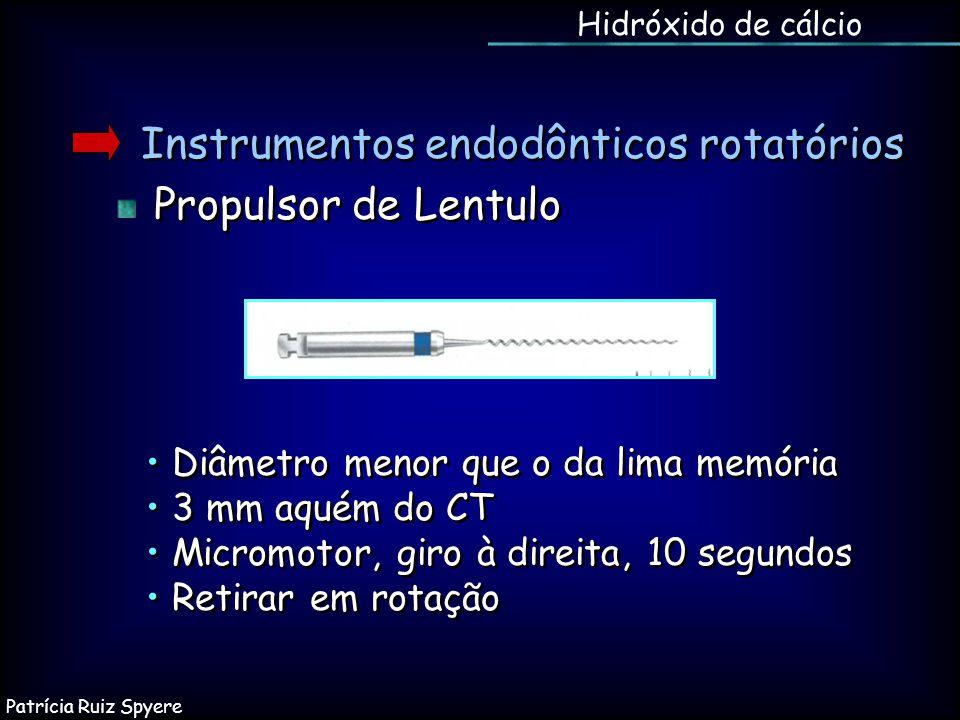 Instrumentos endodônticos rotatórios Propulsor de Lentulo