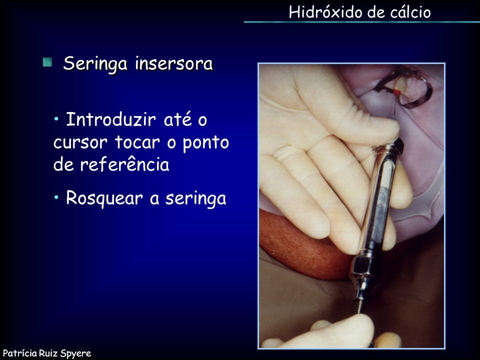 • Introduzir até o cursor tocar o ponto de referência
