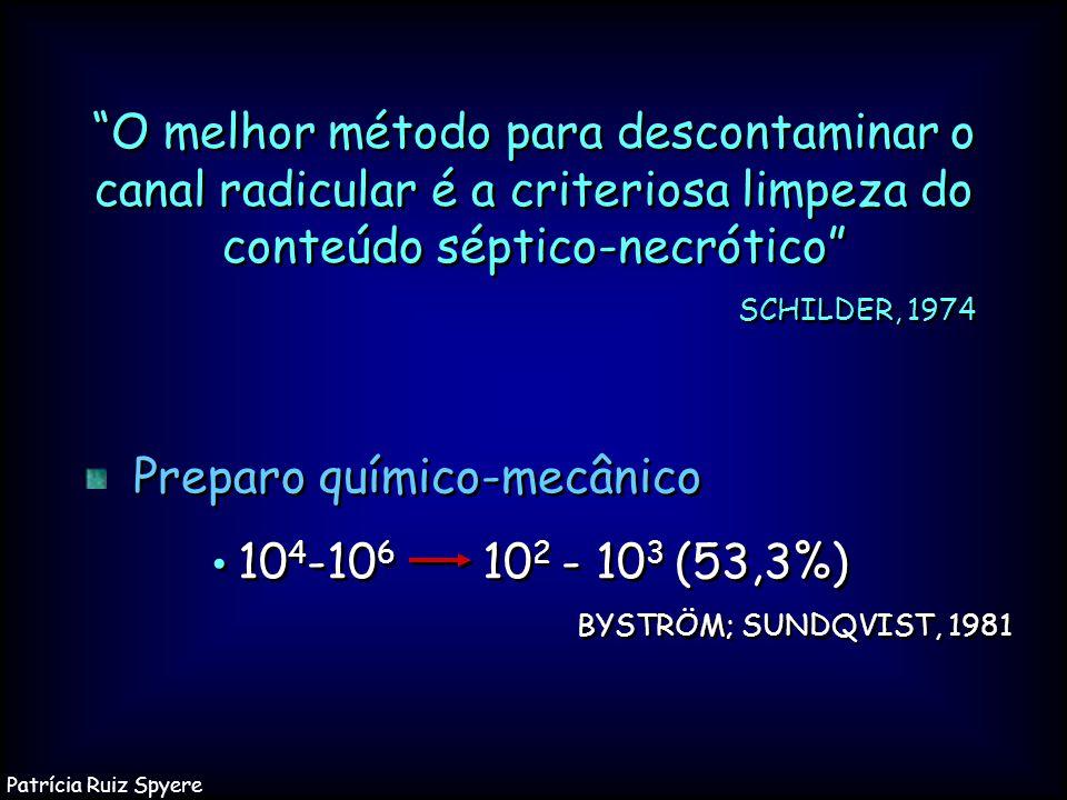 Preparo químico-mecânico • 104-106 102 - 103 (53,3%)