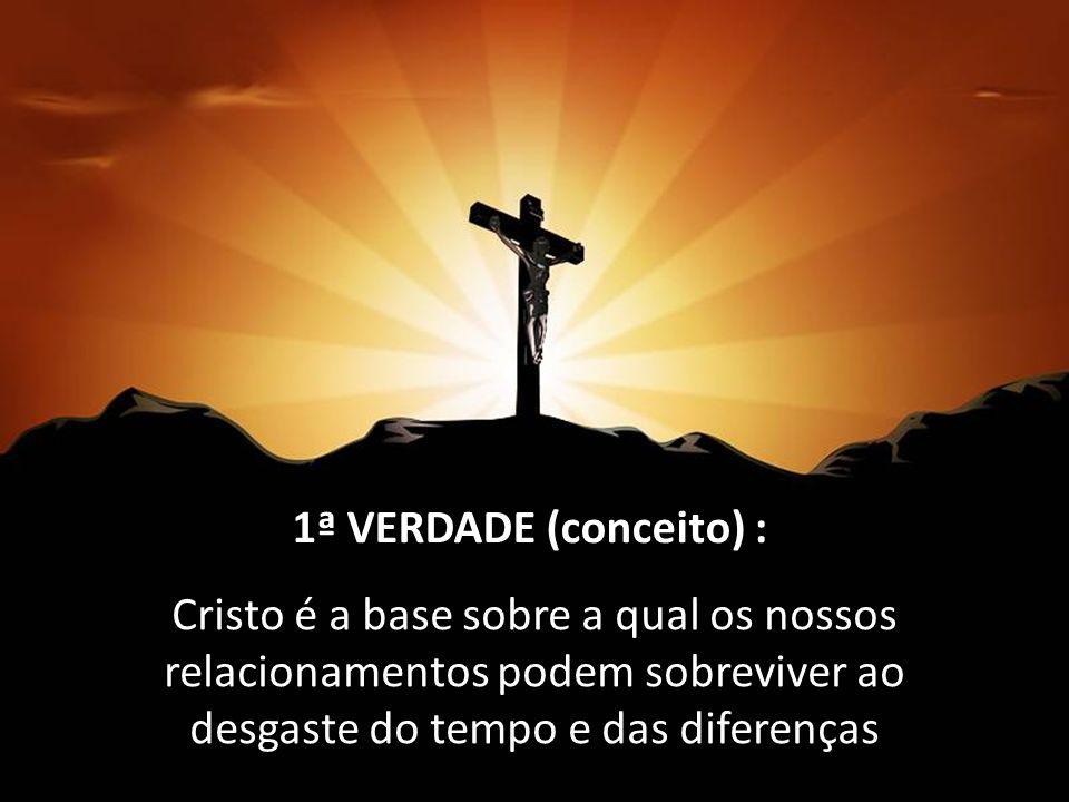 Cristo é a base sobre a qual os nossos