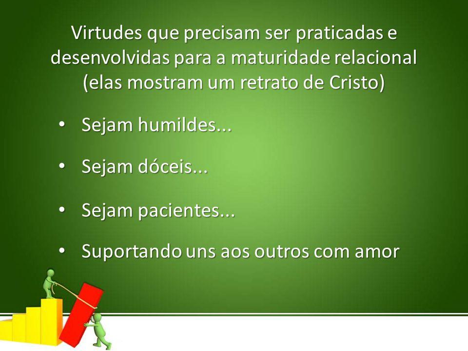 Virtudes que precisam ser praticadas e
