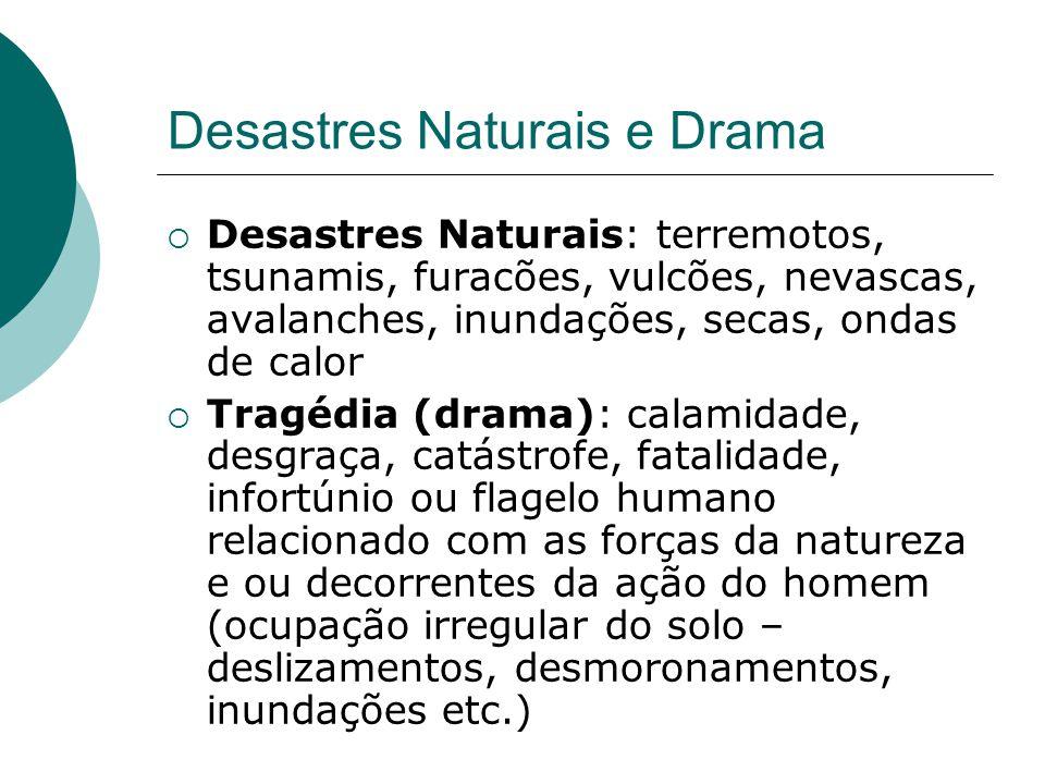 Desastres Naturais e Drama