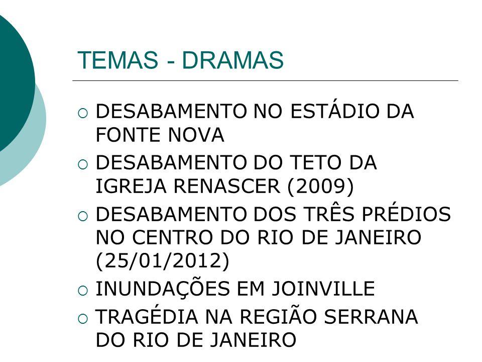 TEMAS - DRAMAS DESABAMENTO NO ESTÁDIO DA FONTE NOVA