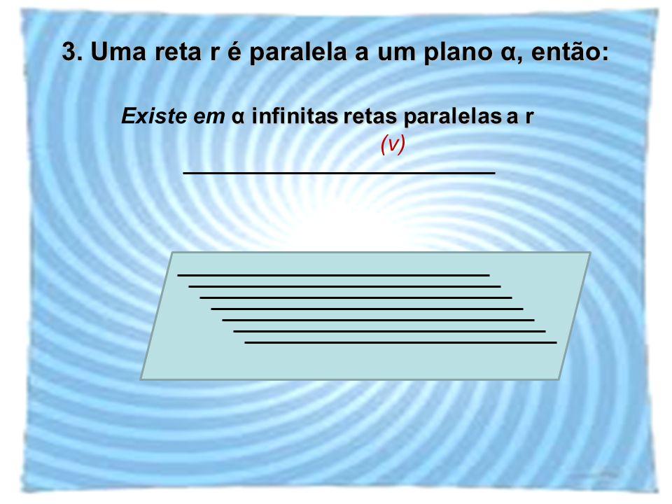 3. Uma reta r é paralela a um plano α, então: