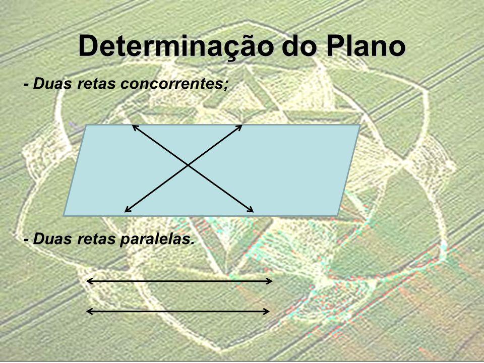 Determinação do Plano - Duas retas concorrentes;