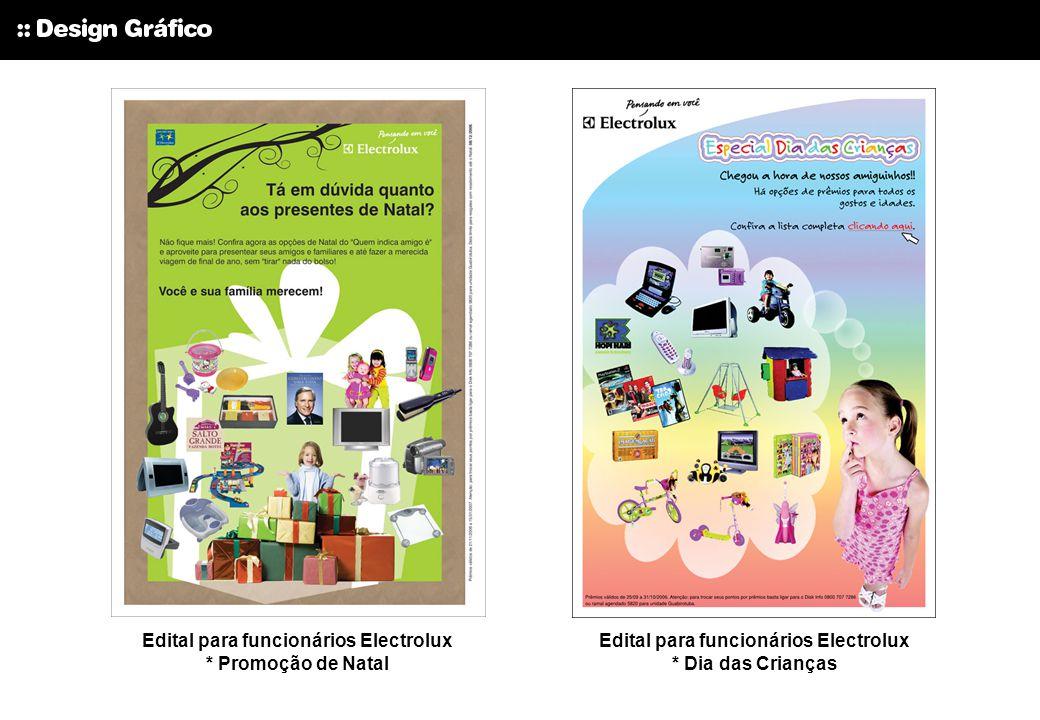 Edital para funcionários Electrolux * Promoção de Natal