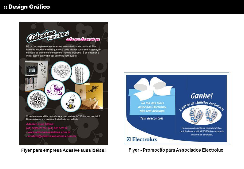 Flyer para empresa Adesive suas Idéias!