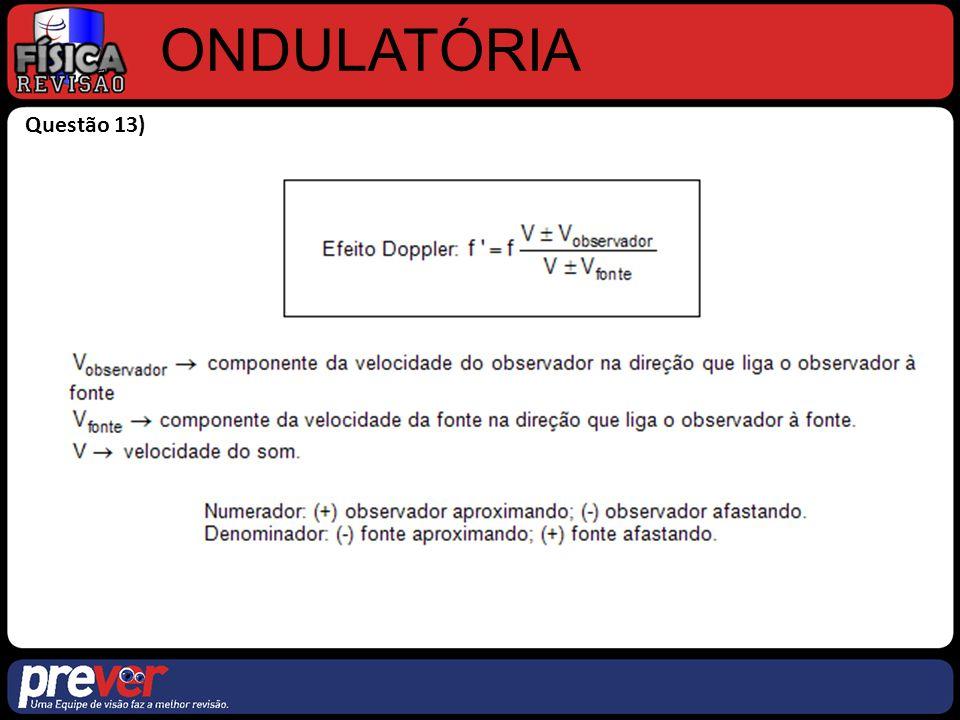 ONDULATÓRIA Questão 13)