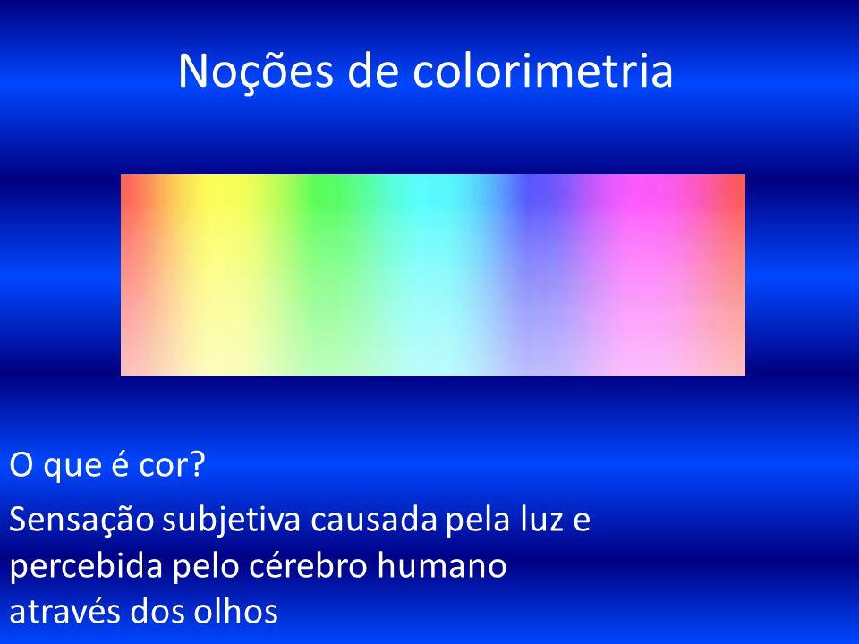 Noções de colorimetria