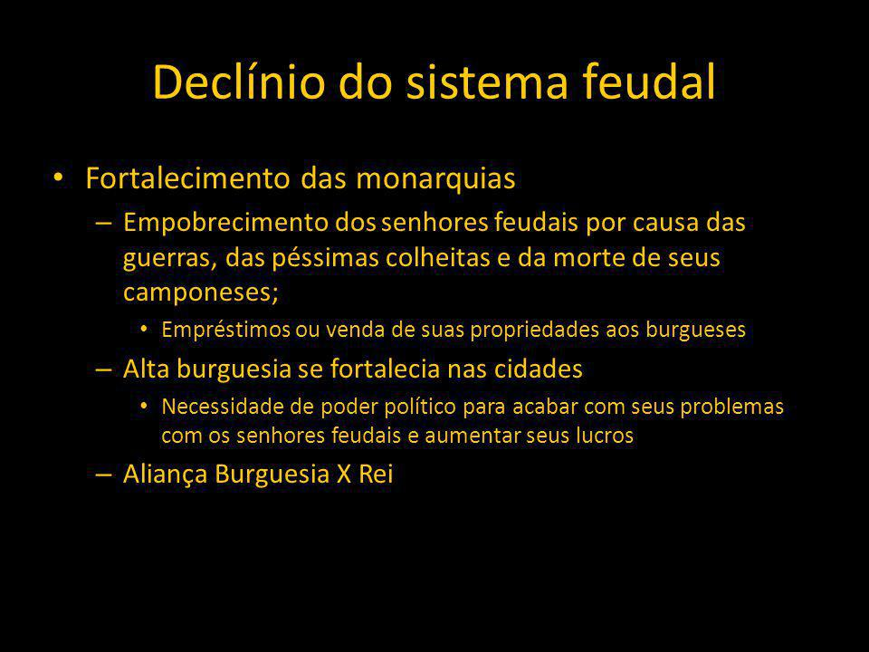 Declínio do sistema feudal