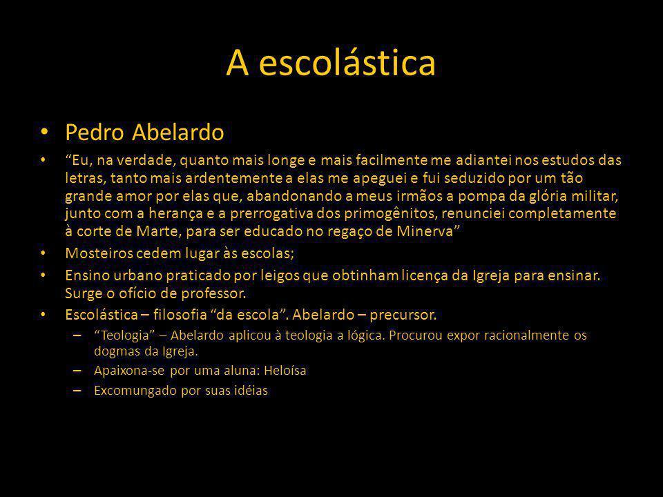 A escolástica Pedro Abelardo