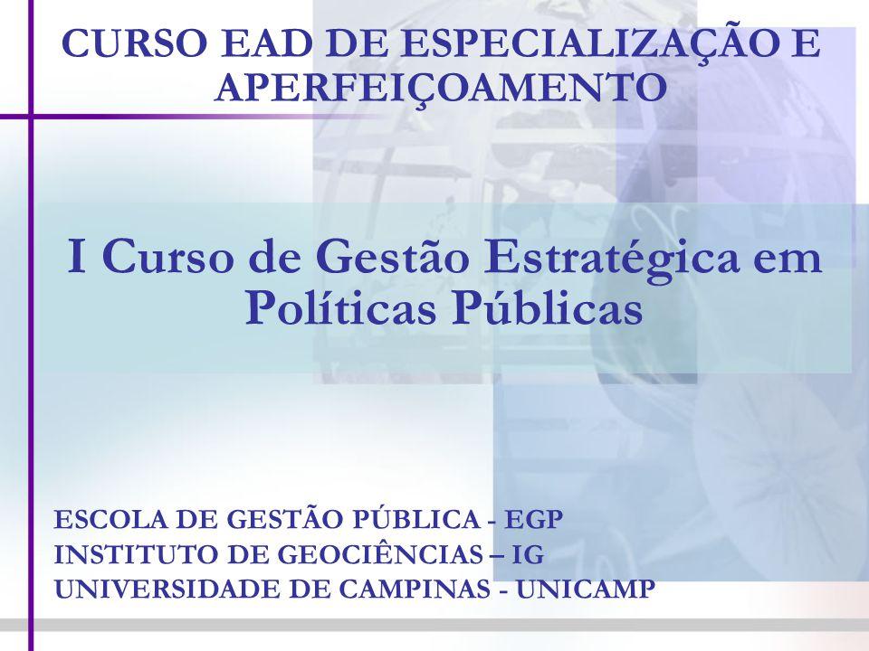 I Curso de Gestão Estratégica em Políticas Públicas