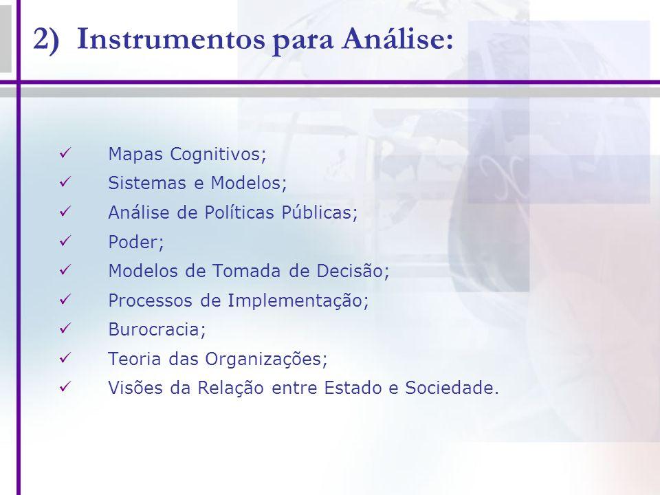 2) Instrumentos para Análise: