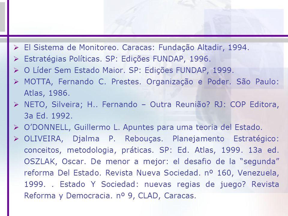 El Sistema de Monitoreo. Caracas: Fundação Altadir, 1994.