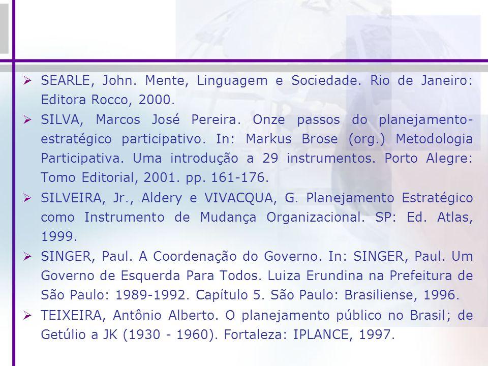 SEARLE, John. Mente, Linguagem e Sociedade