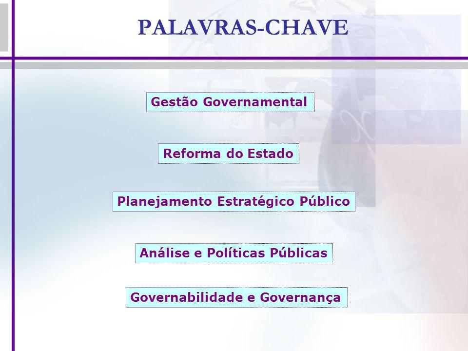 PALAVRAS-CHAVE Gestão Governamental Reforma do Estado