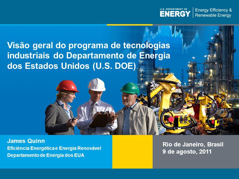 Visão geral do programa de tecnologias industriais do Departamento de Energia dos Estados Unidos (U.S. DOE)