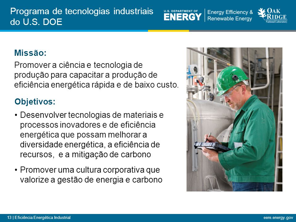 Programa de tecnologias industriais do U.S. DOE
