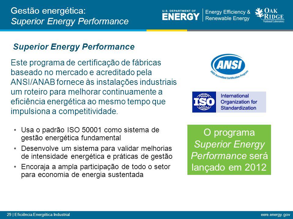 O programa Superior Energy Performance será lançado em 2012