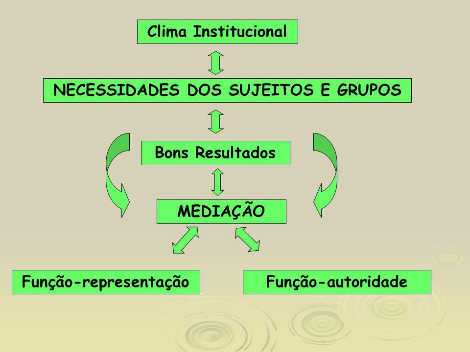 NECESSIDADES DOS SUJEITOS E GRUPOS Função-representação
