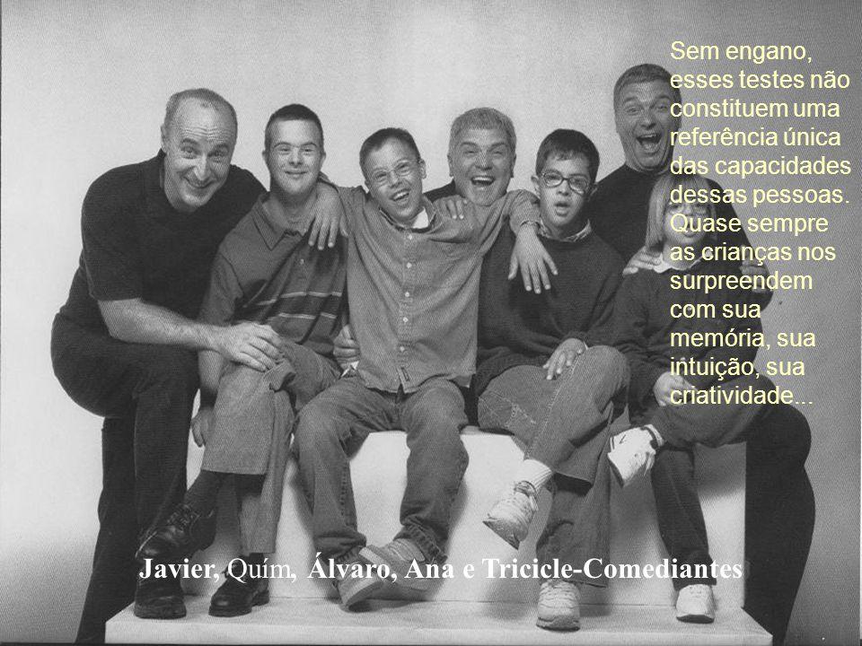 Javier, Quím, Álvaro, Ana e Tricicle-Comediantes