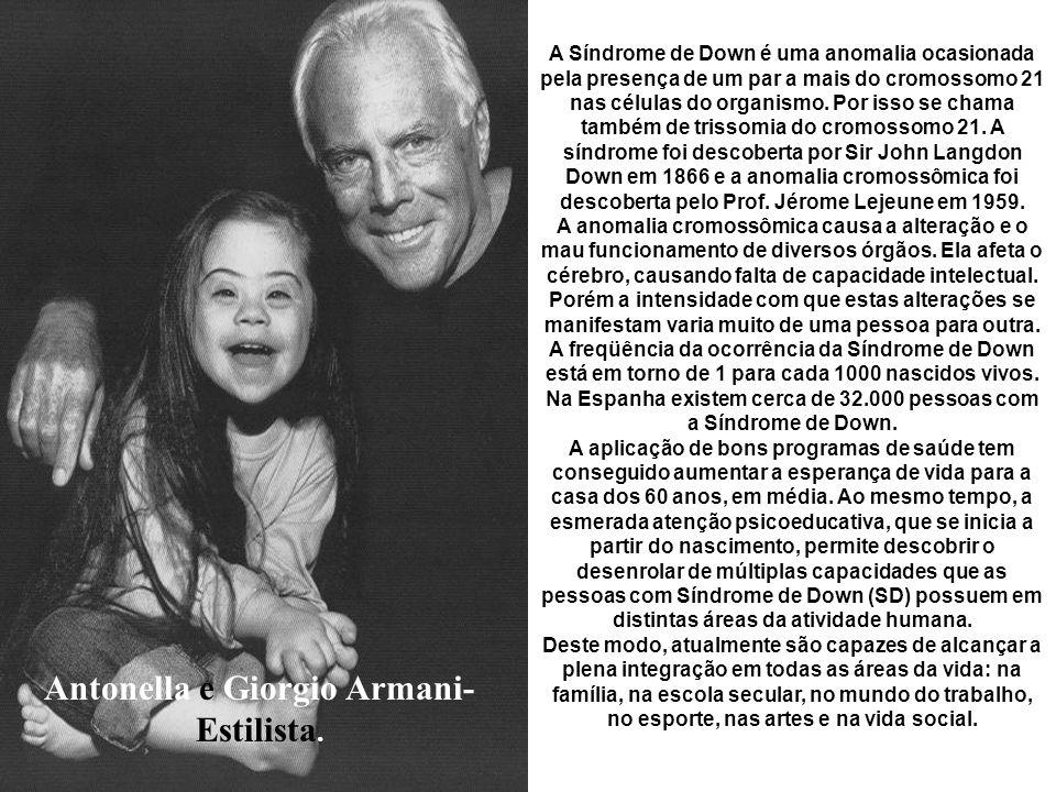 Antonella e Giorgio Armani-Estilista.