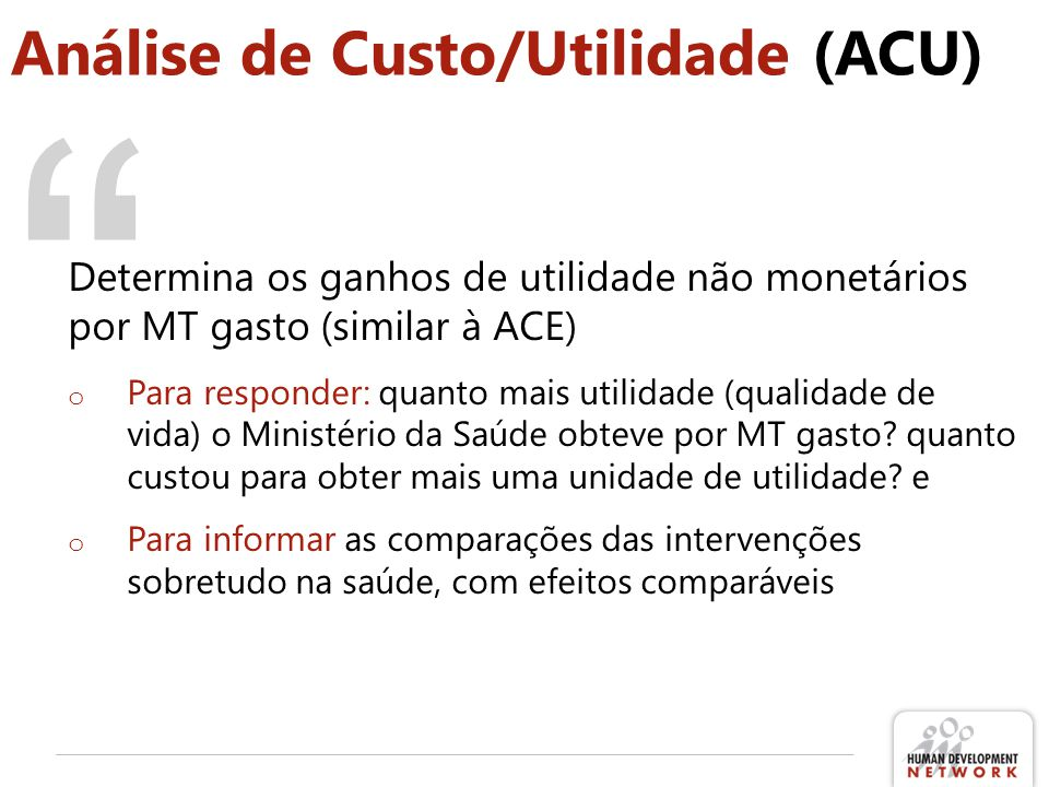 Análise de Custo/Utilidade (ACU)