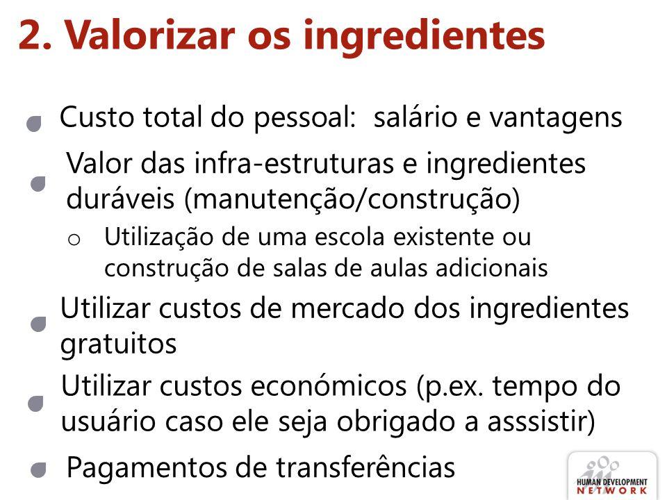 2. Valorizar os ingredientes