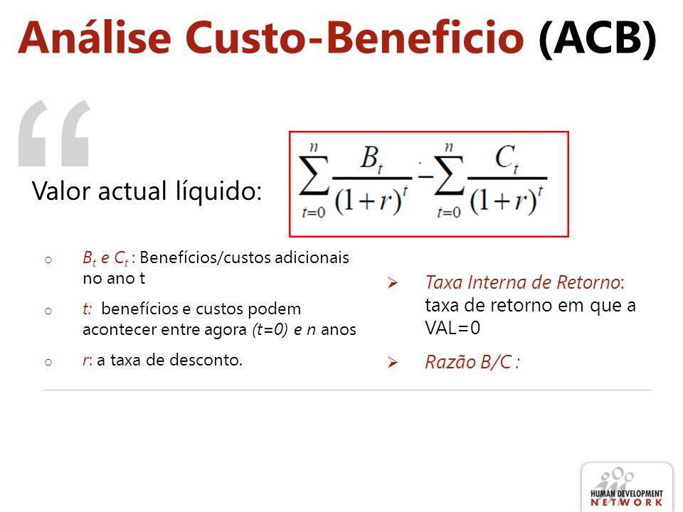 Análise Custo-Beneficio (ACB)