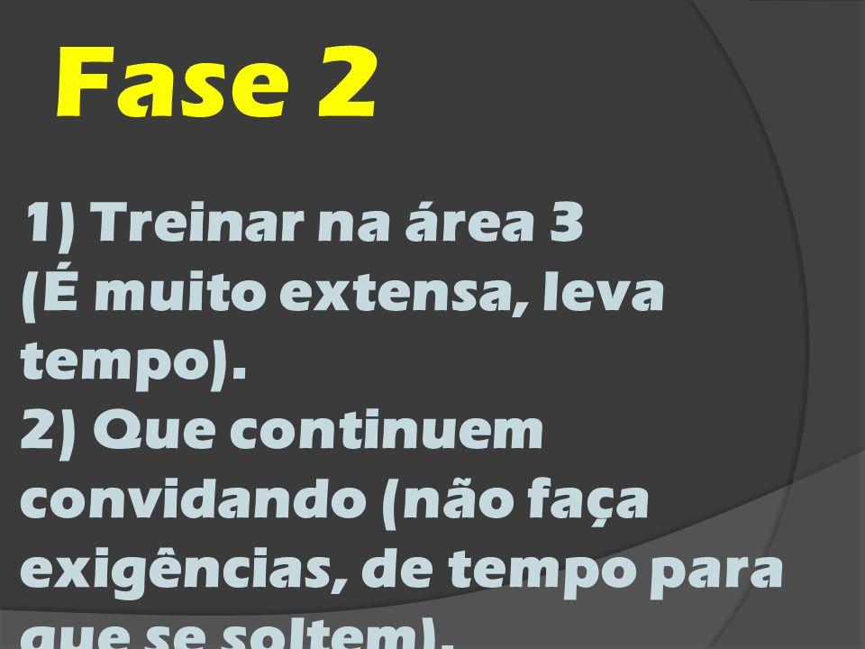 Fase 2 Treinar na área 3 (É muito extensa, leva tempo).