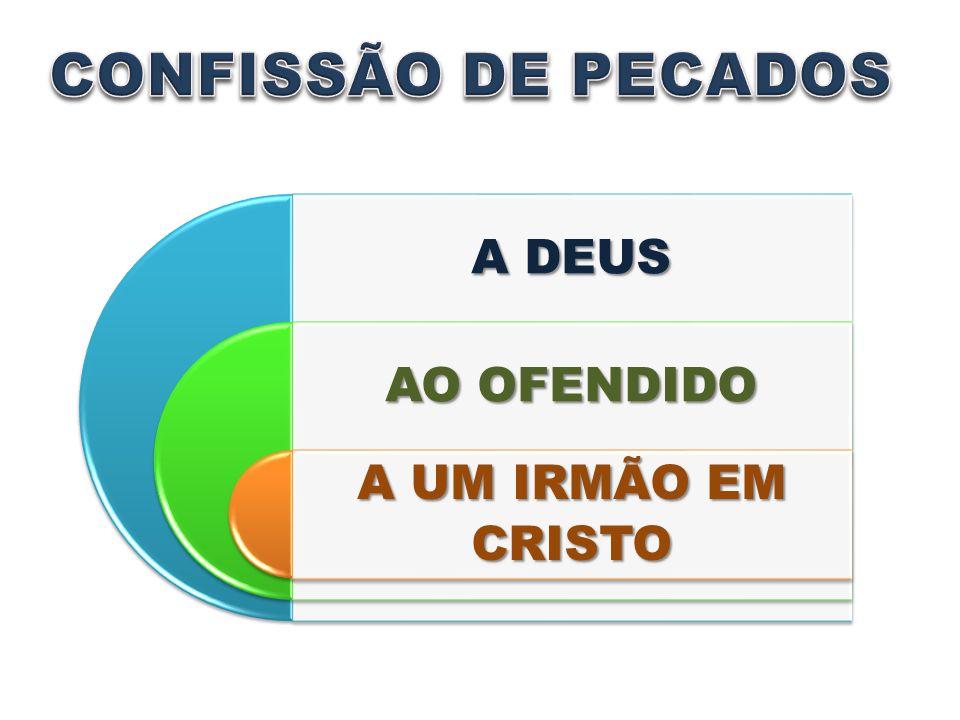 CONFISSÃO DE PECADOS A DEUS AO OFENDIDO A UM IRMÃO EM CRISTO