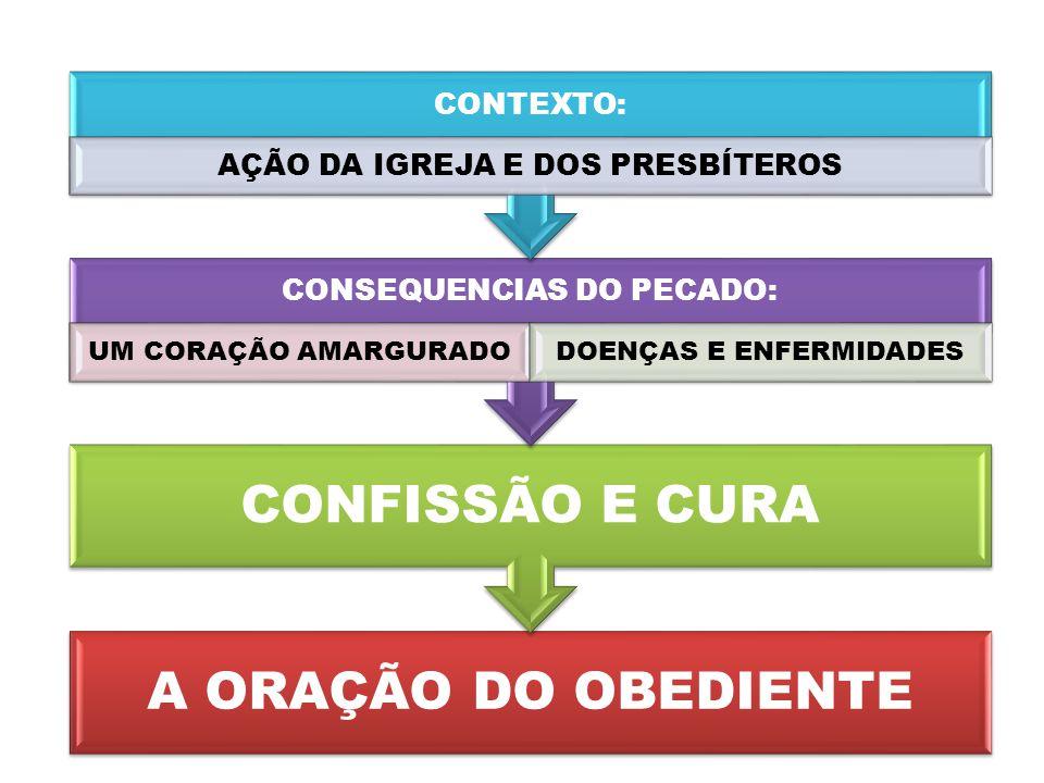 A ORAÇÃO DO OBEDIENTE CONFISSÃO E CURA