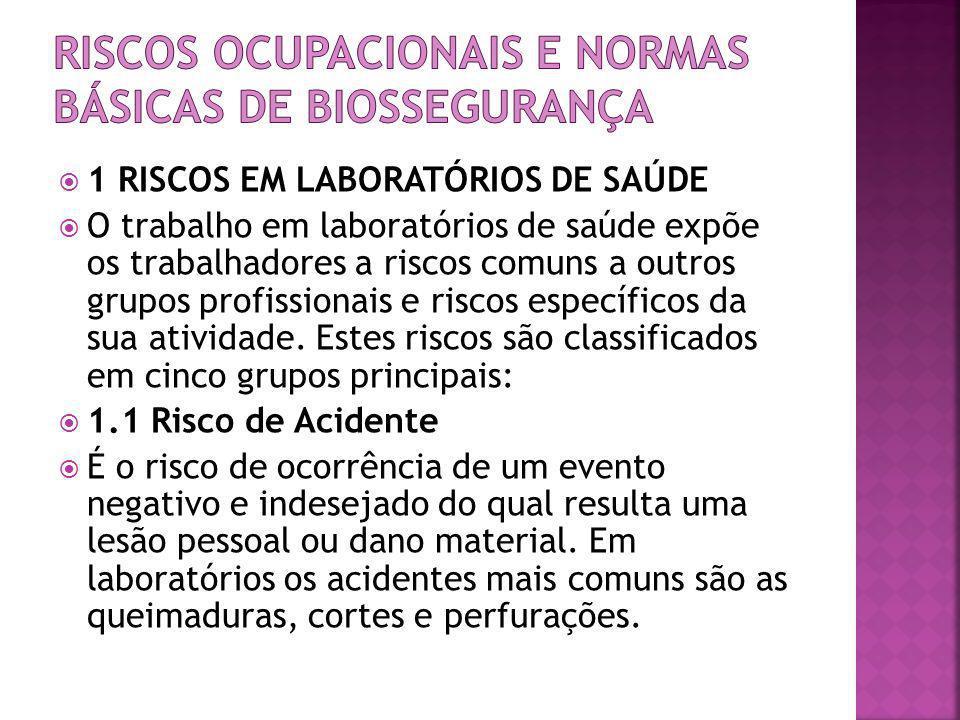 RISCOS OCUPACIONAIS E NORMAS BÁSICAS DE BIOSSEGURANÇA