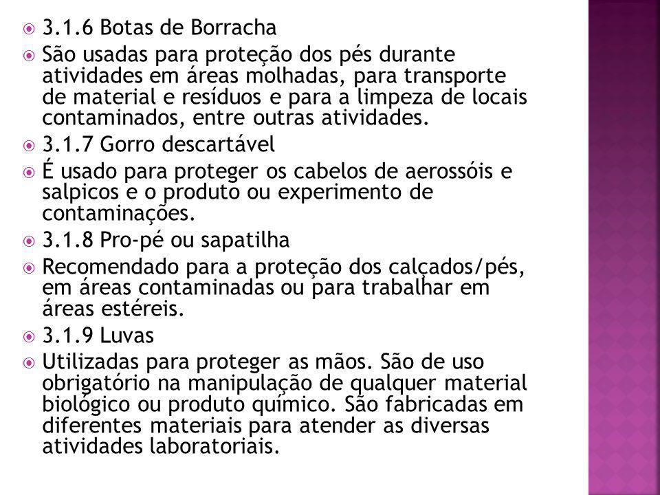 3.1.6 Botas de Borracha