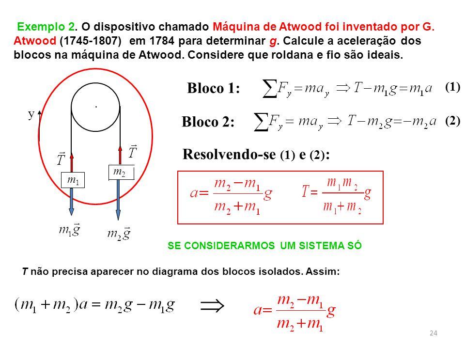  Bloco 1: Bloco 2: Resolvendo-se (1) e (2): (1) y (2)
