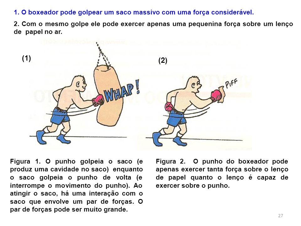 1. O boxeador pode golpear um saco massivo com uma força considerável.